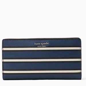 ♠️ KSNY Bi-Fold Striped Wallet NWT